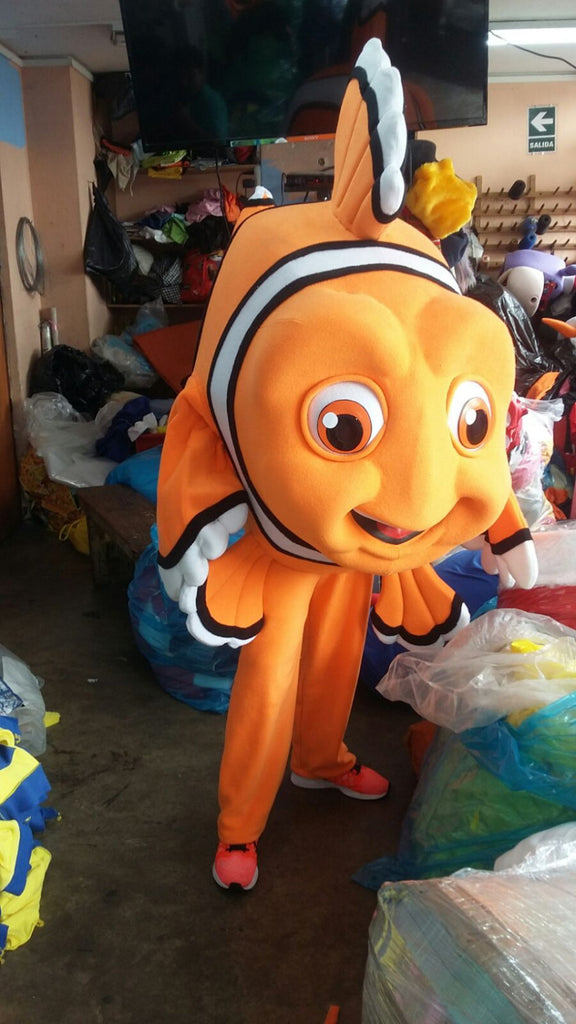 Nemo Fish Mascot Costume Adult Nemo Costume