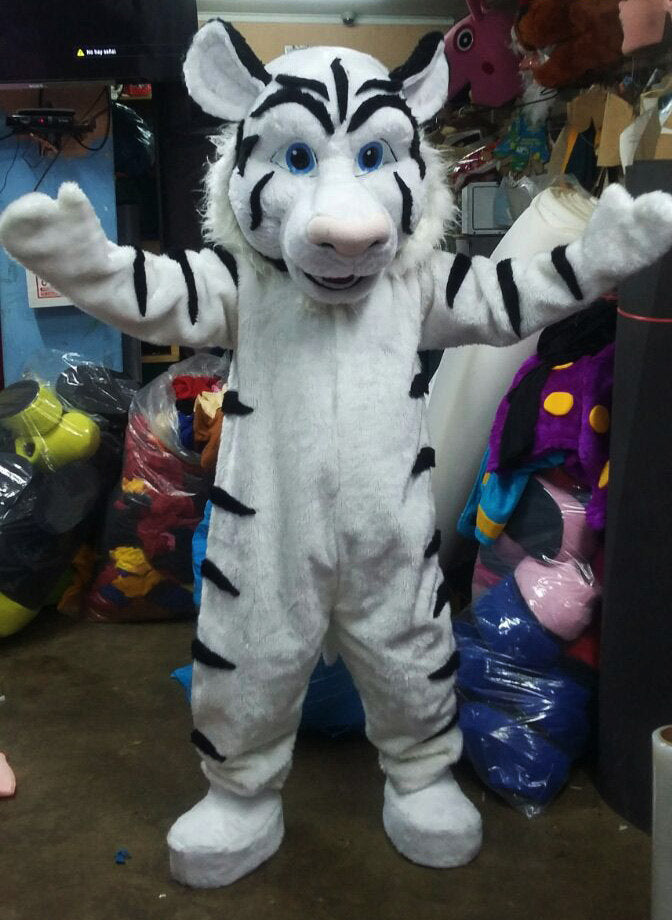 White Tiger Mascot Costume Adult Costume