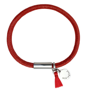 Poppy Tassel Leather Bracelet