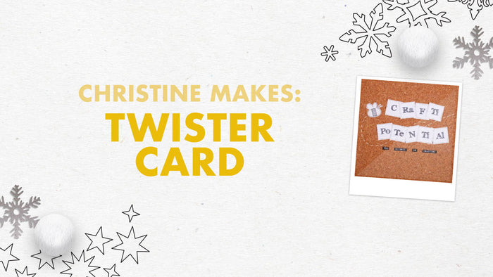 Tonic Craft Kit 13 - Twister Card Snowflake Gift Card Box - Crafti Potential