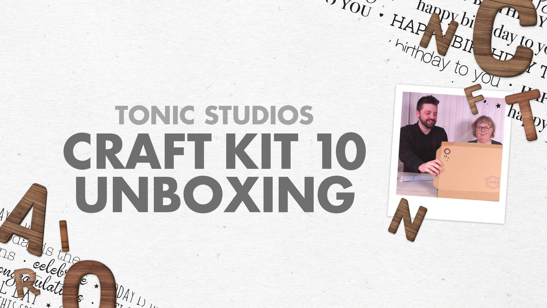 Tonic Craft Kit 10 - Alphabet Frame Unboxing - Tonic Studios