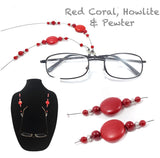 Bamboo Red Coral Eyeglass Chain