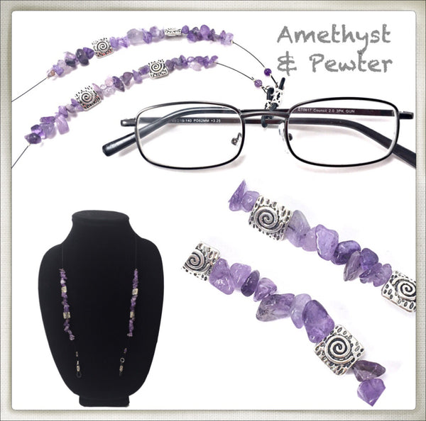 Amethyst (Chip) Eyeglass Chain