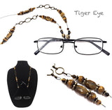 Tiger Eye (faceted) Eyeglass Chain