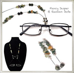 Fancy Jasper & Russian Jade Eyeglass Chain