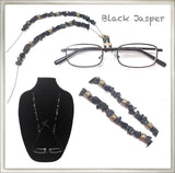 Jasper Black (Chip) Eyeglass Chain