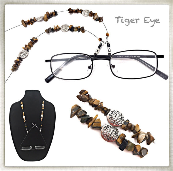 Tiger Eye Chip Eyeglass Chain