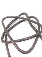 Braided Leather & Pewter Eyeglass Cord