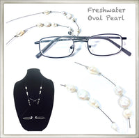 Freshwater Oval Pearl Eyeglass Chain
