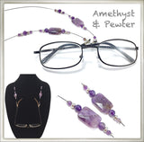 Amethyst (Faceted) Eyeglass Chain
