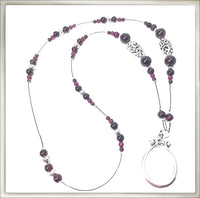 Garnet Eyeglass Ring Necklace