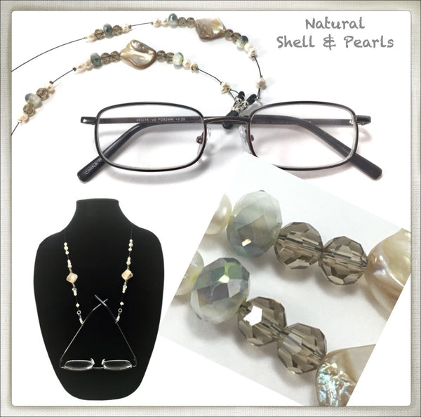 Pearl & Opalescent Shell Eyeglass Chain