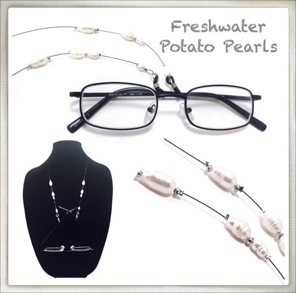 Freshwater Potato Pearl Eyeglass Chain