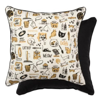cat lady pillow
