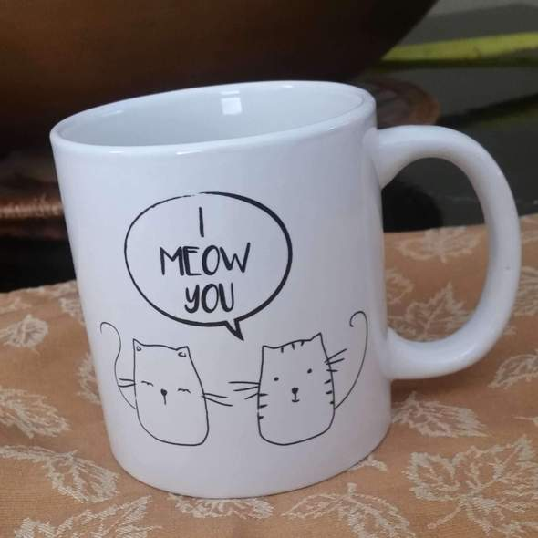 I Meow You Cat Lovers Coffee Mug