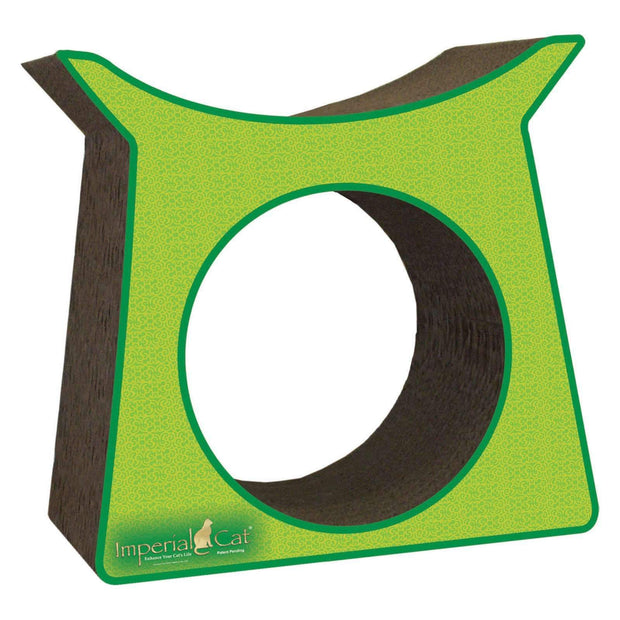 Recycled Paper Tower Tunnel Cat Scratcher Post For Cats In Green