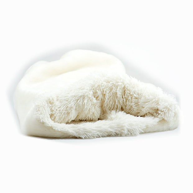 Cream Smooth with Cream Shag Cuddle Cup