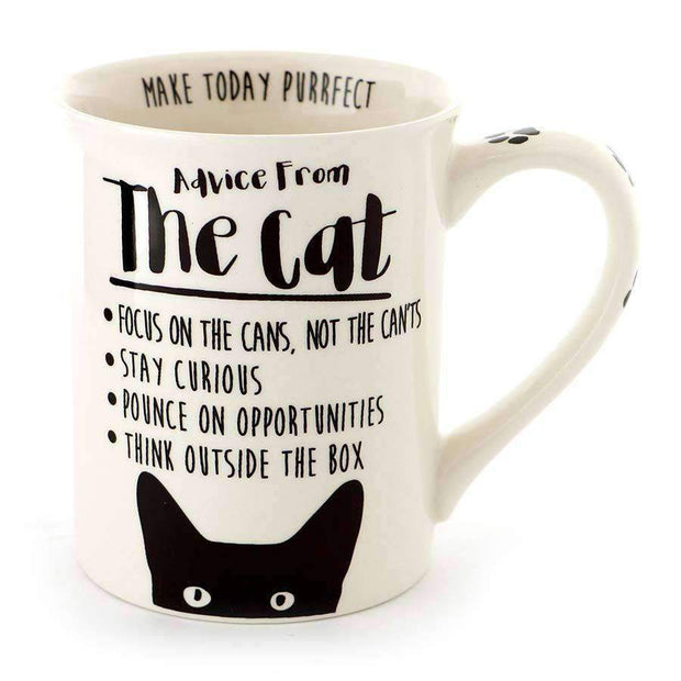 Advice from the cat coffee mug for cat lovers
