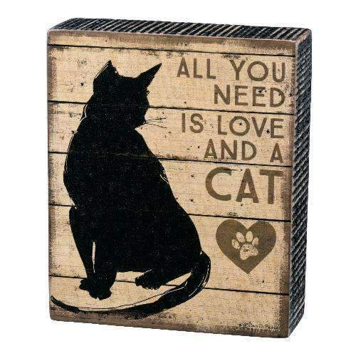 all you need is love and a cat box sign by primitives by kathy