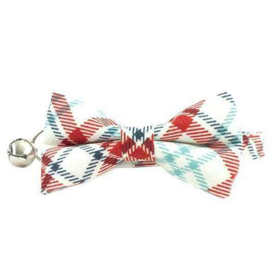 americana bow tie collar for cats and kittens