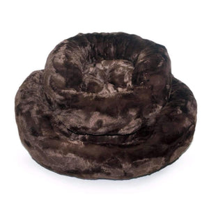 amour cat bed in chocolate luxury cat product