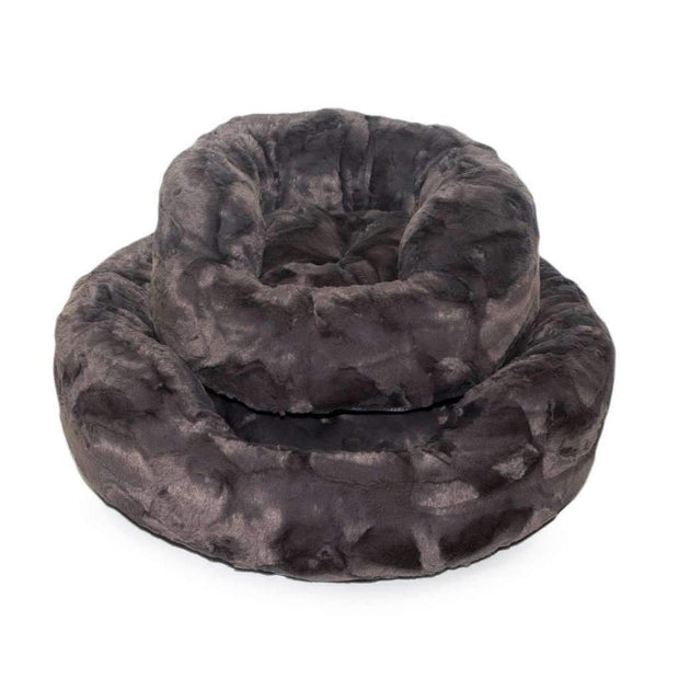 amour cat bed in pewter