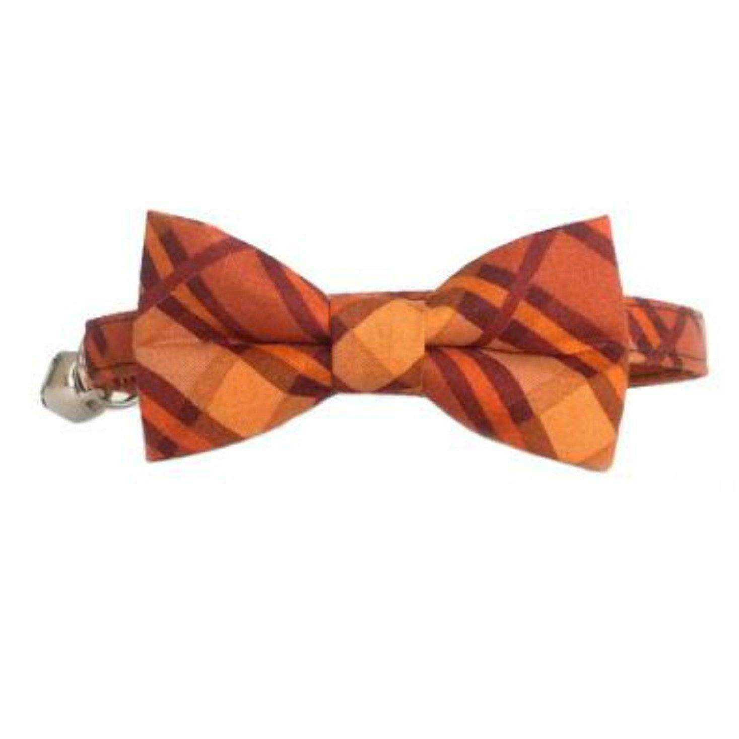 autumn plaid breakaway safety cat bow tie cat collar