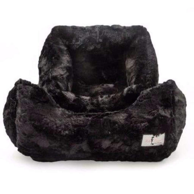 bella cat bed in black