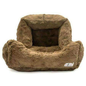 bella cat bed in mocha