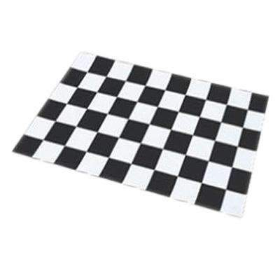 perfect litter mat in black and white check