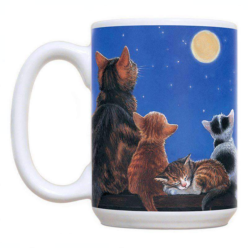 Cats with full moon coffee mug