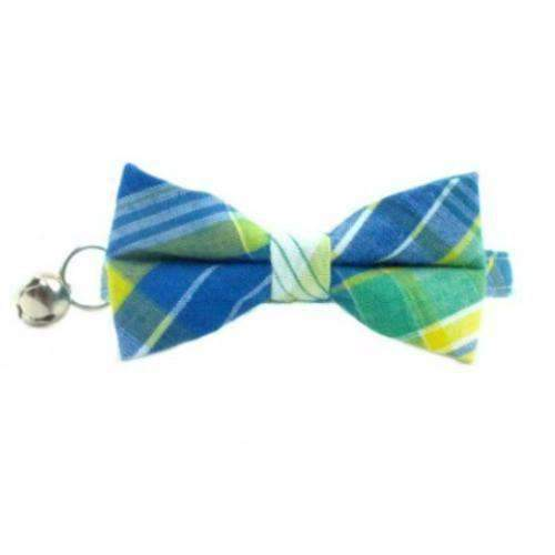 cape cod blue bow tie cat collar