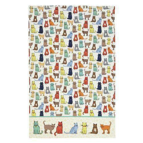 cat walk tea towel by ulster weavers