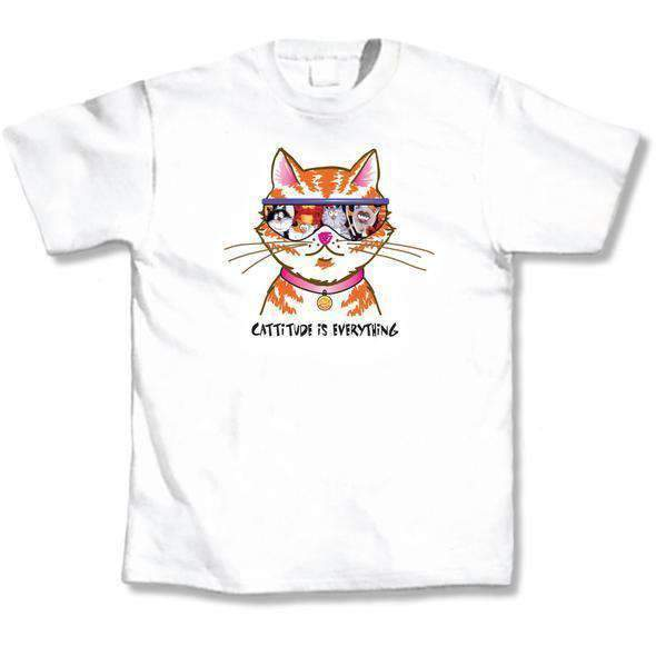 cattitude is everything cat lovers tshirt