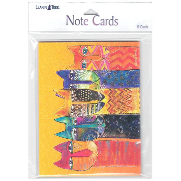 Laurel Burch Colorful Felines Blank Note Card Set