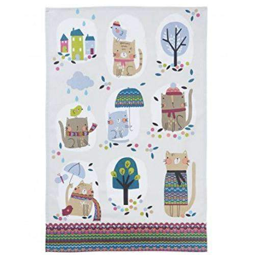 cozy cats tea towel by ulster weavers