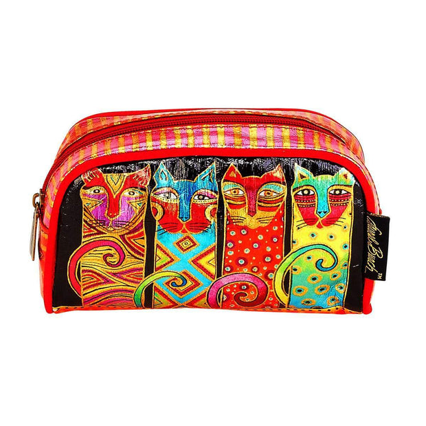 Laurel Burch Feline Clan Cats Foil Cosmetic Bag