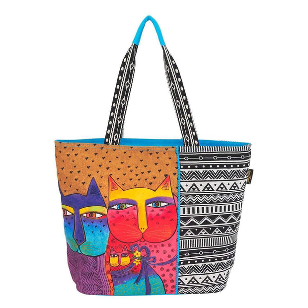 Laurel Burch Feline Family Shoulder Tote