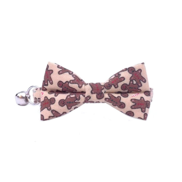 Gingerbread Man Christmas Cat Bow Tie Collar
