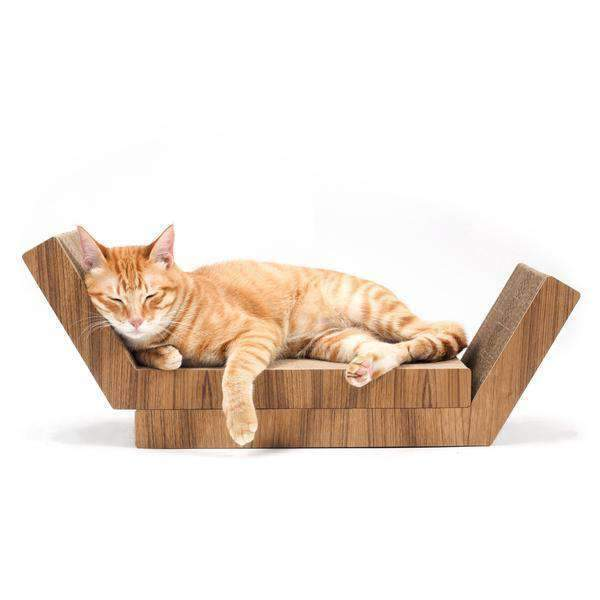 Katris Lynks Modular Cat Scratcher- 2 Pack- Real Teak Wood