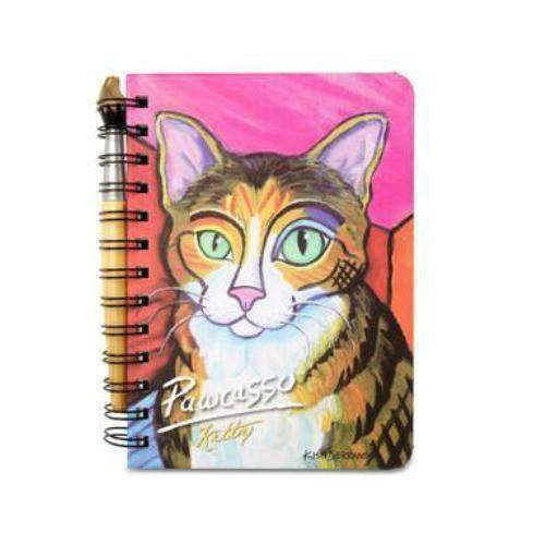 kitty pawcasso cat journal notebook