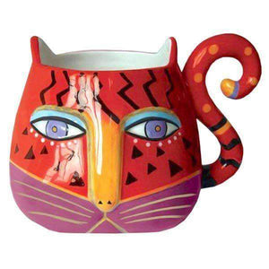 laurel burch fantasticat coffee mug