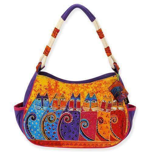 Laurel Burch Feline Tribes Hobo Tote