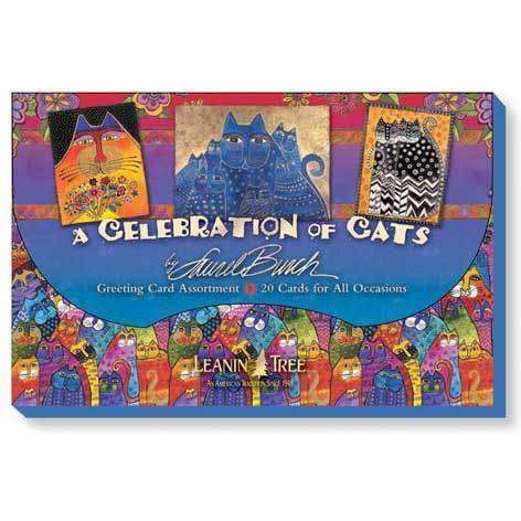 Laurel Burch Celebration of Cats Card Assortment