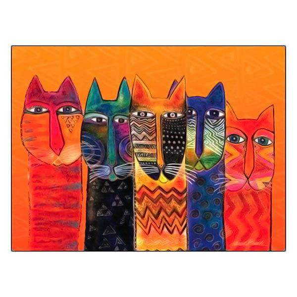 Laurel Burch Long Necks Blank Card