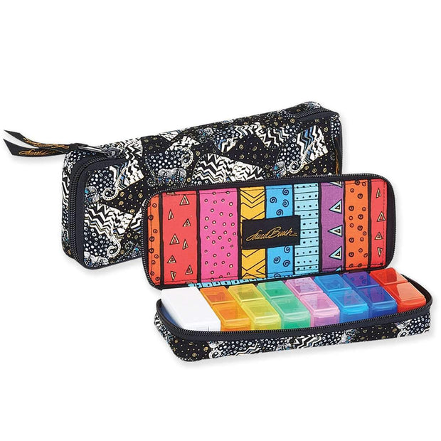 Laurel Burch Polka Dot Wild Quilted 7 Day Pill Organizer Bag