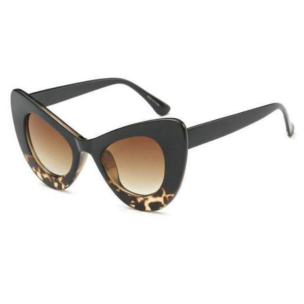 leopard Sexy Chunky Cat eye Sunglasses