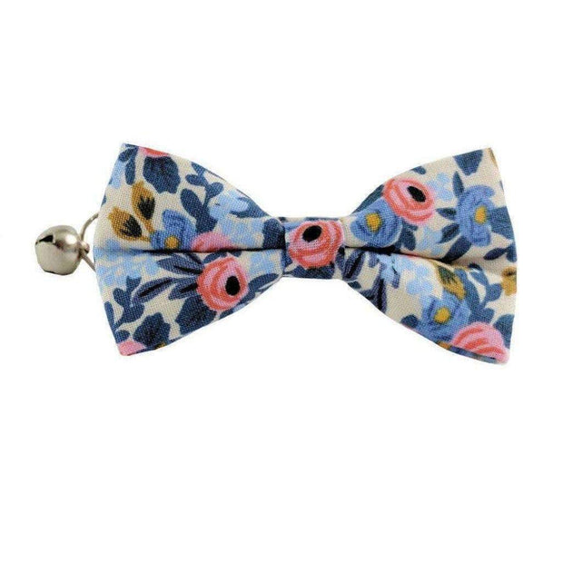 light floral bow tie cat collar