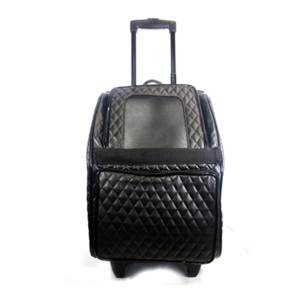 Luxe Rio Bag On Wheels In Quilted Black