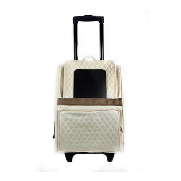 Luxe Rio Bag On Wheels In Quilted Ivory
